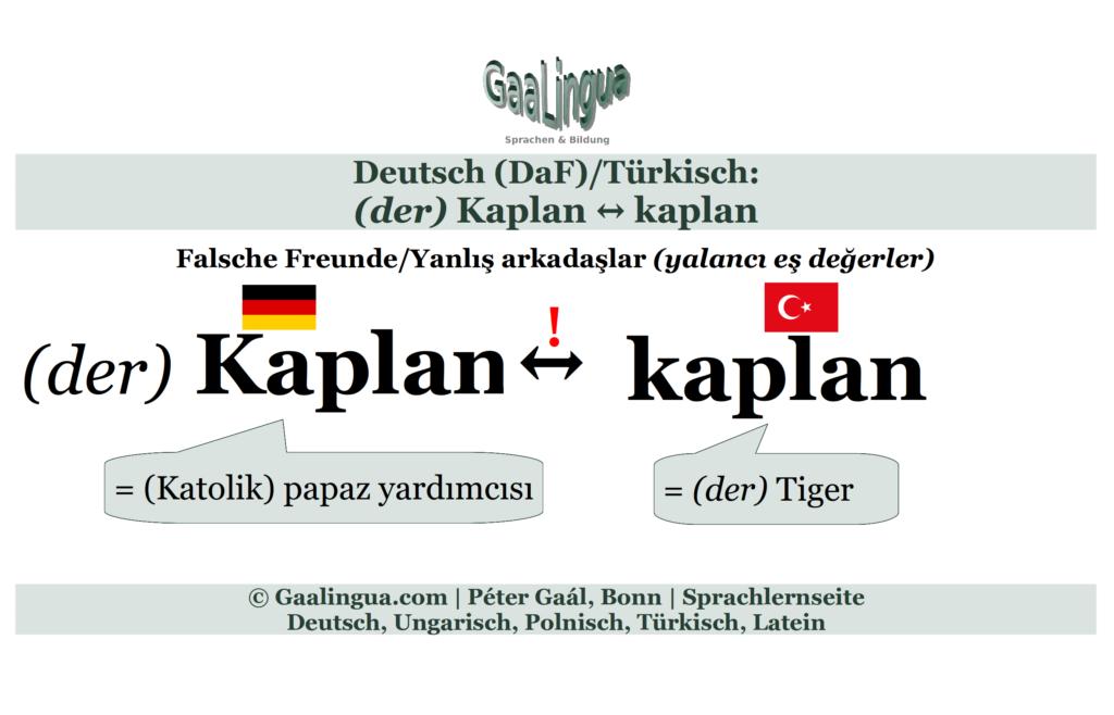 (c) Péter Gaál, Bonn/Gaalingua; (der) Kaplan ↔ kaplan